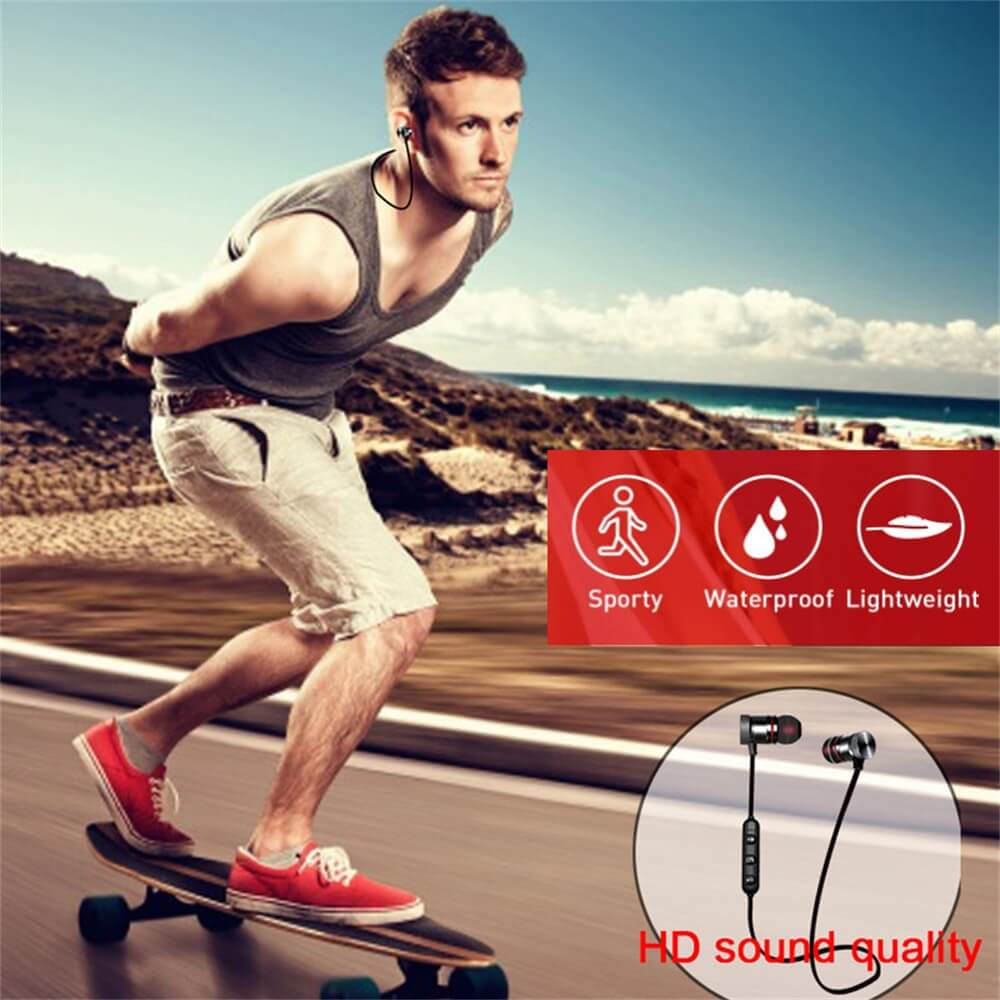 Neckband Magnetic Earphone Active Noise Cancelling Wireless Gaming Headset Stereo Earbuds (8)