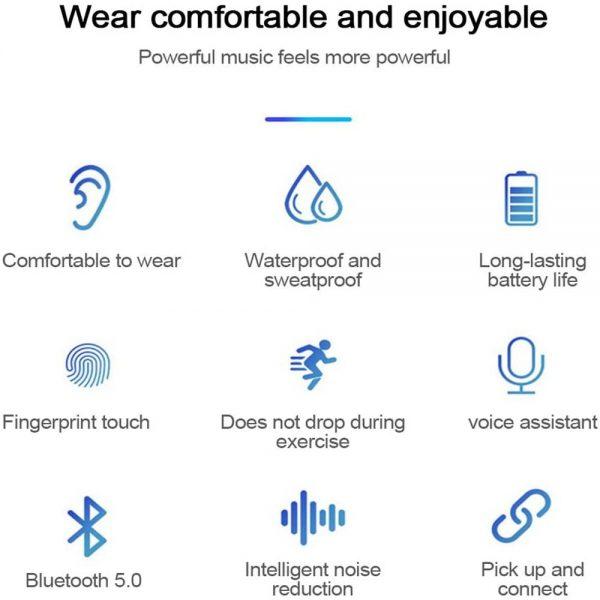New Tws Bluetooth 5.0 Wireless Headphones In Ear Earphones Mini Headset Earbuds (3)