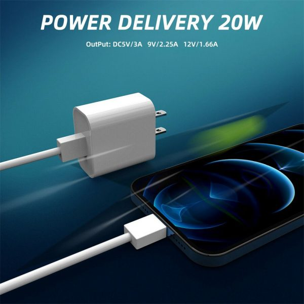 Pd 20w Fast Charging Usb C Charger For Iphone 12 Mini Pro Max 12 11 Xs Xr X 8 (10)