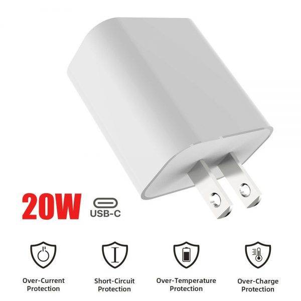 Pd 20w Fast Charging Usb C Charger For Iphone 12 Mini Pro Max 12 11 Xs Xr X 8 (2)