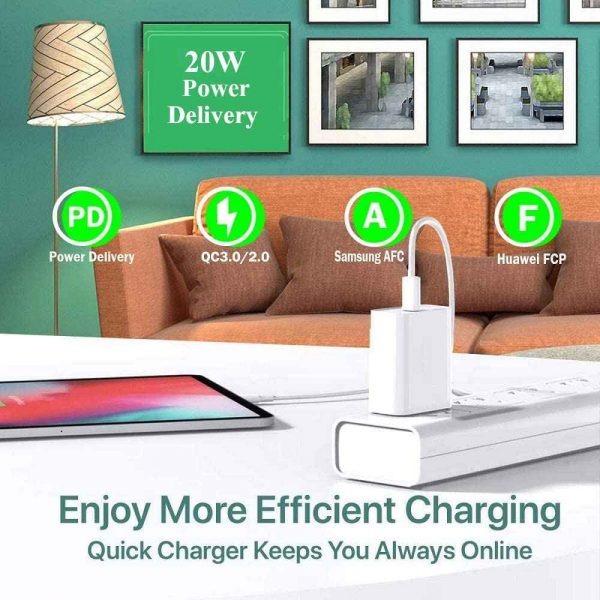 Pd 20w Fast Charging Usb C Charger For Iphone 12 Mini Pro Max 12 11 Xs Xr X 8 (4)
