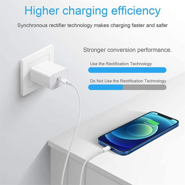 Pd 20w Fast Charging Usb C Charger For Iphone 12 Mini Pro Max 12 11 Xs Xr X 8 (6)