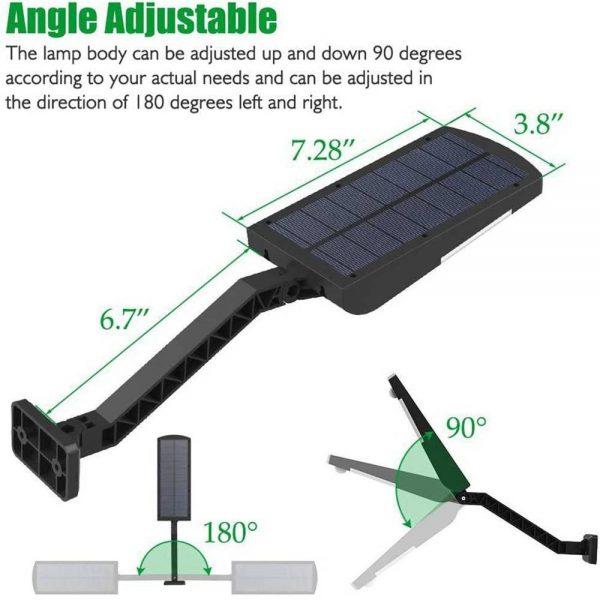 Path Garden Lamp 48led Solar Power Pir Motion Sensor Wall Street Lights (6)