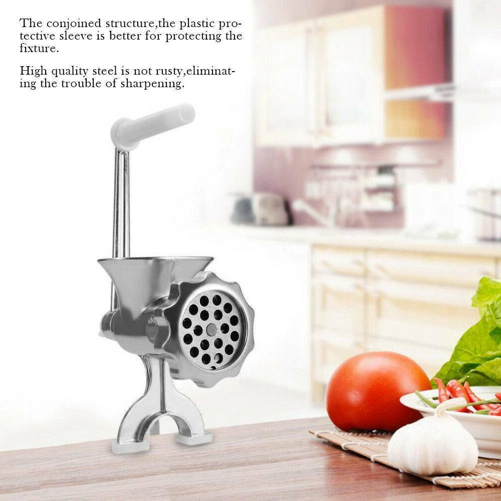 Perfect Adjustable Heavy Duty Hand Operated Manual Kitchen Meat Mincer Grinder (2)