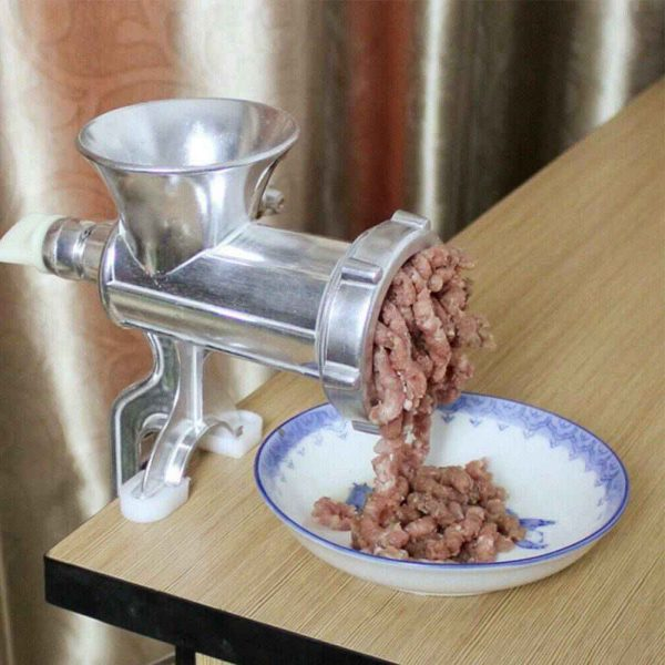 Perfect Adjustable Heavy Duty Hand Operated Manual Kitchen Meat Mincer Grinder (5)
