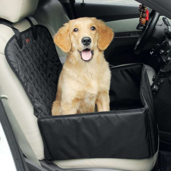 Pet Bucket Seat Cover 2 In 1 Deluxe Dog Cat For Car Non Slip Backing Waterproof (10)