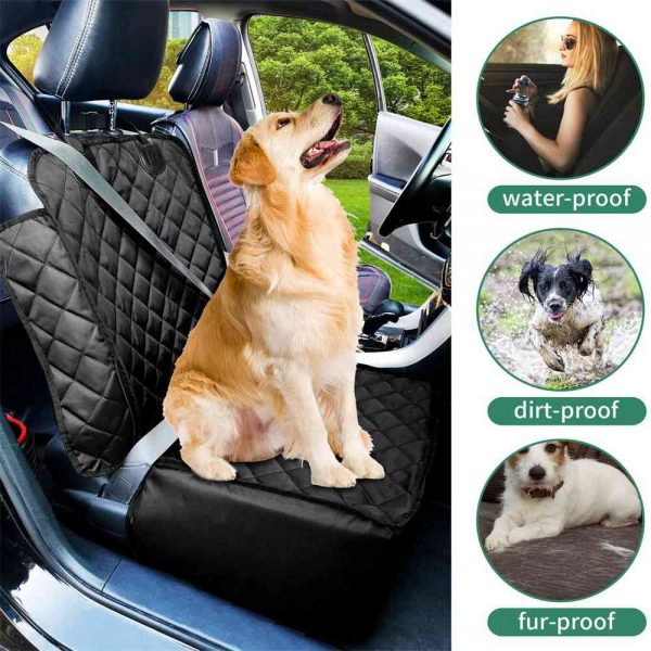 Pet Bucket Seat Cover 2 In 1 Deluxe Dog Cat For Car Non Slip Backing Waterproof (12)