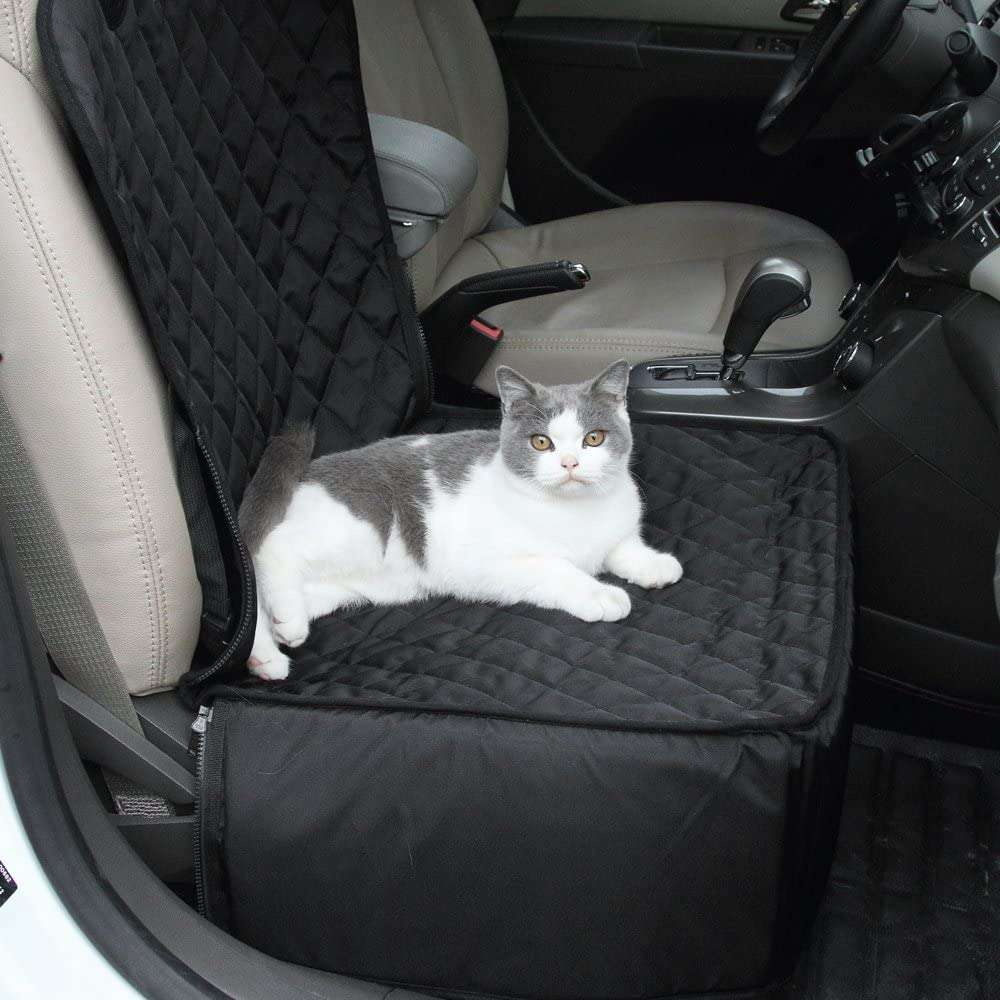 Pet Bucket Seat Cover 2 In 1 Deluxe Dog Cat For Car Non Slip Backing Waterproof (15)