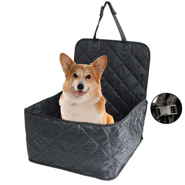 Pet Bucket Seat Cover 2 In 1 Deluxe Dog Cat For Car Non Slip Backing Waterproof (2)