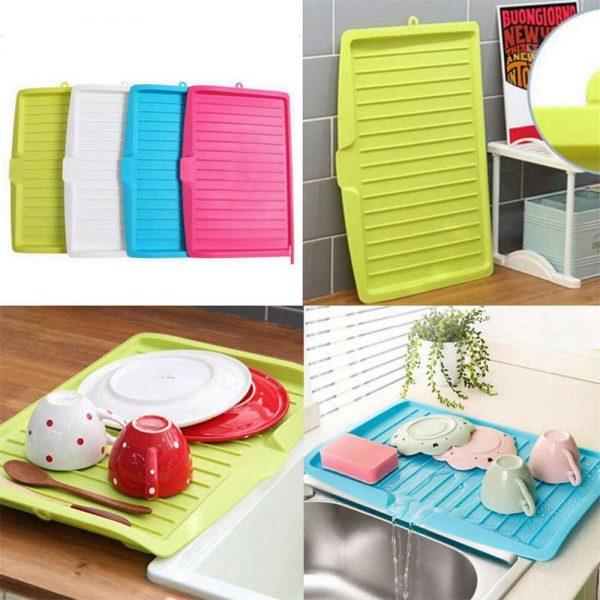 Plastic Worktop Dish Drainer Drip Tray Large Kitchen Sink Drying Rack Holder Uk (15)