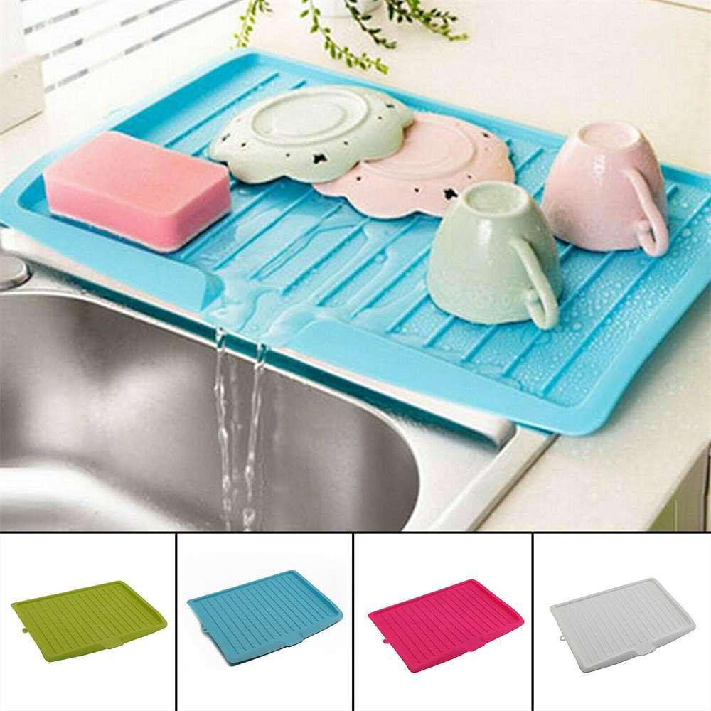 Plastic Worktop Dish Drainer Drip Tray Large Kitchen Sink Drying Rack Holder Uk (16)