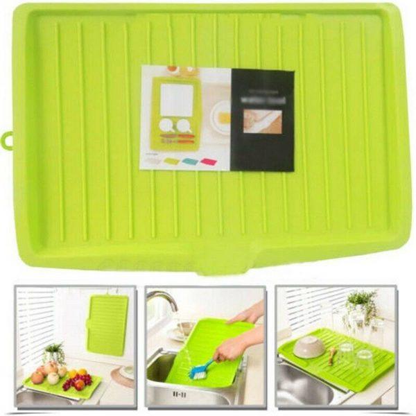 Plastic Worktop Dish Drainer Drip Tray Large Kitchen Sink Drying Rack Holder Uk (5)
