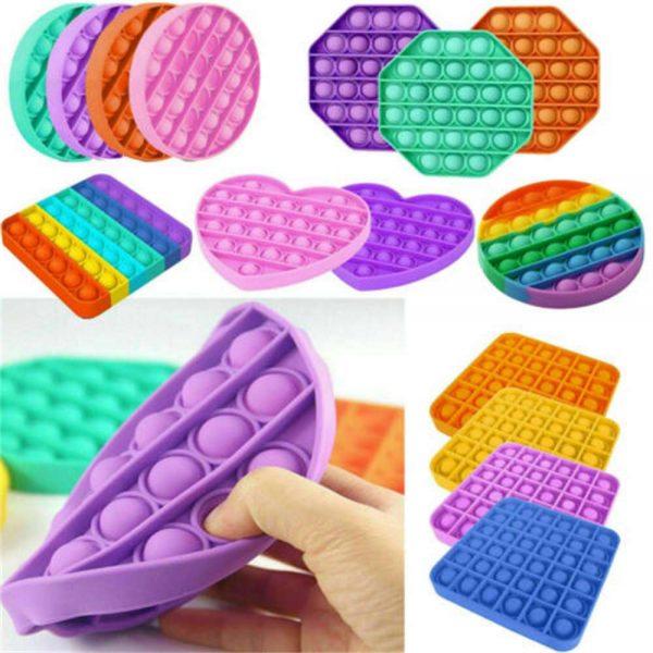 Pop Its Fidget Toy Push Bubble Sensory Stress Relief Kids Tiktok Family Games (10)