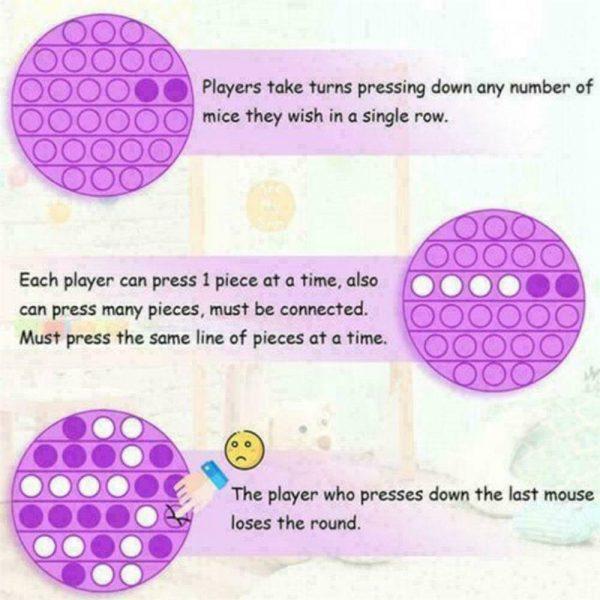 Pop Its Fidget Toy Push Bubble Sensory Stress Relief Kids Tiktok Family Games (12)