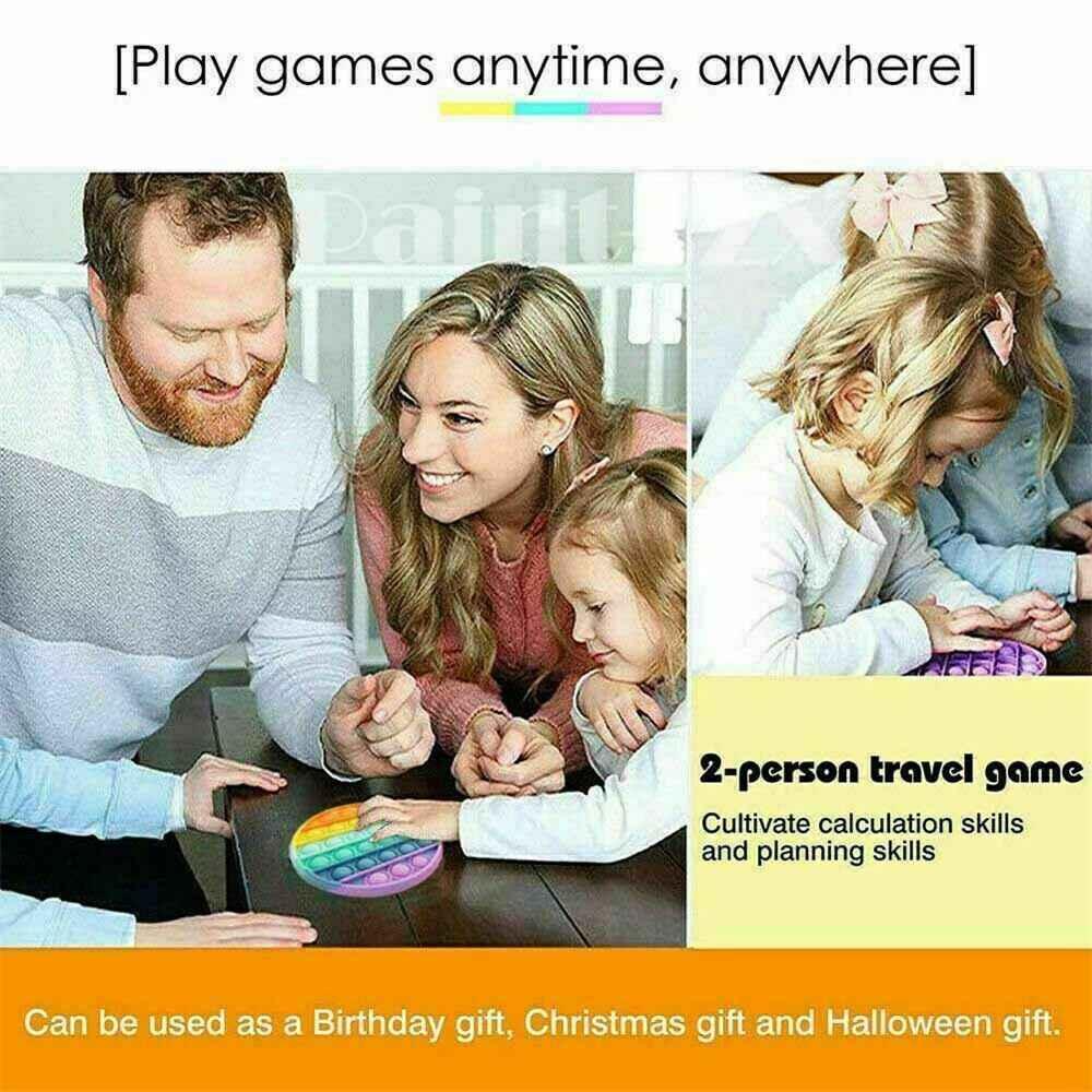 Pop Its Fidget Toy Push Bubble Sensory Stress Relief Kids Tiktok Family Games (14)