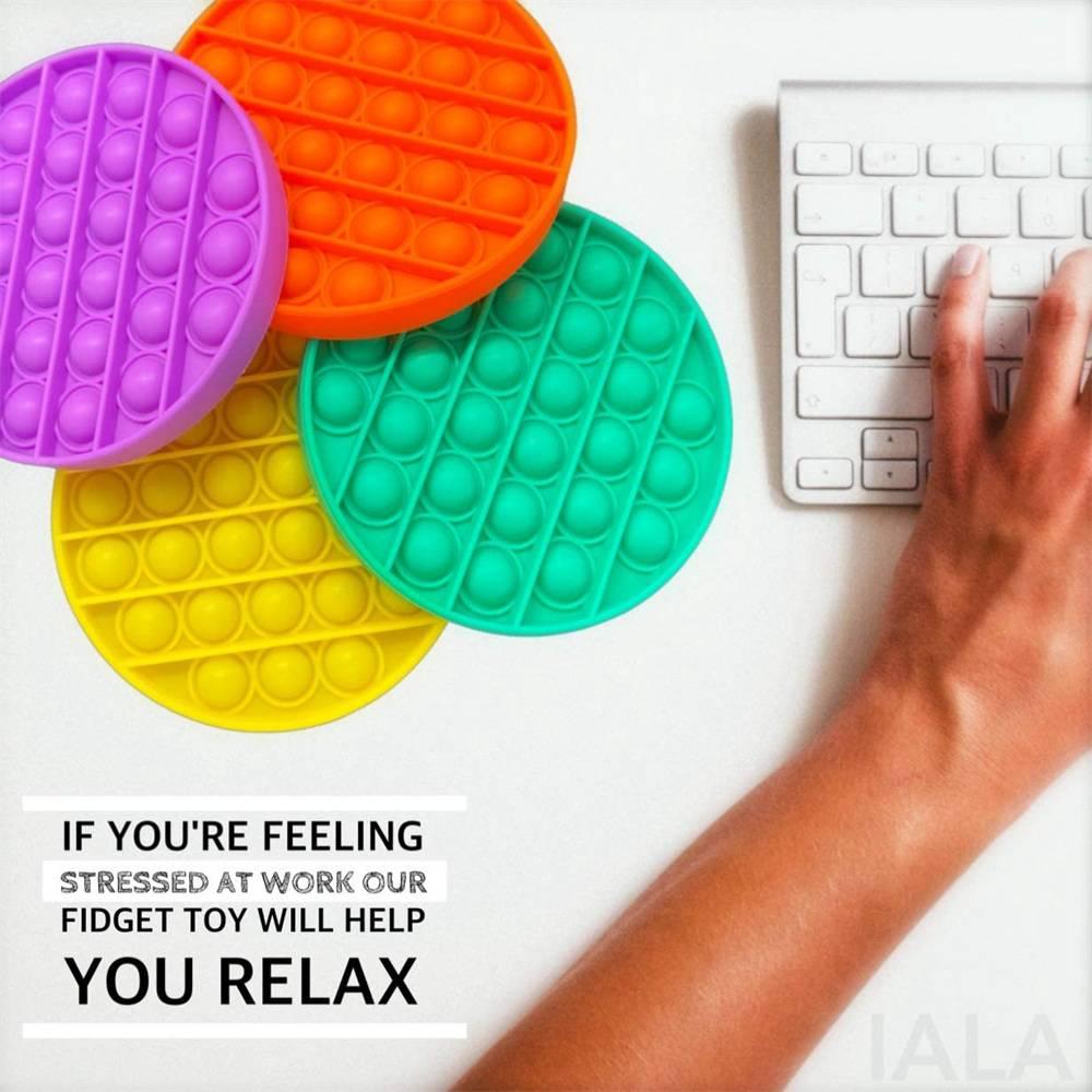 Pop Its Fidget Toy Push Bubble Sensory Stress Relief Kids Tiktok Family Games (2)