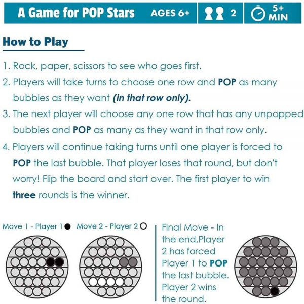 Pop Its Fidget Toy Push Bubble Sensory Stress Relief Kids Tiktok Family Games (3)