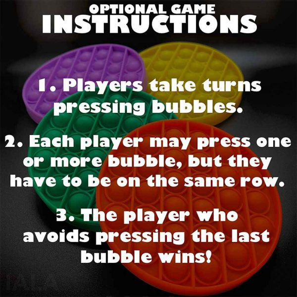 Pop Its Fidget Toy Push Bubble Sensory Stress Relief Kids Tiktok Family Games (4)