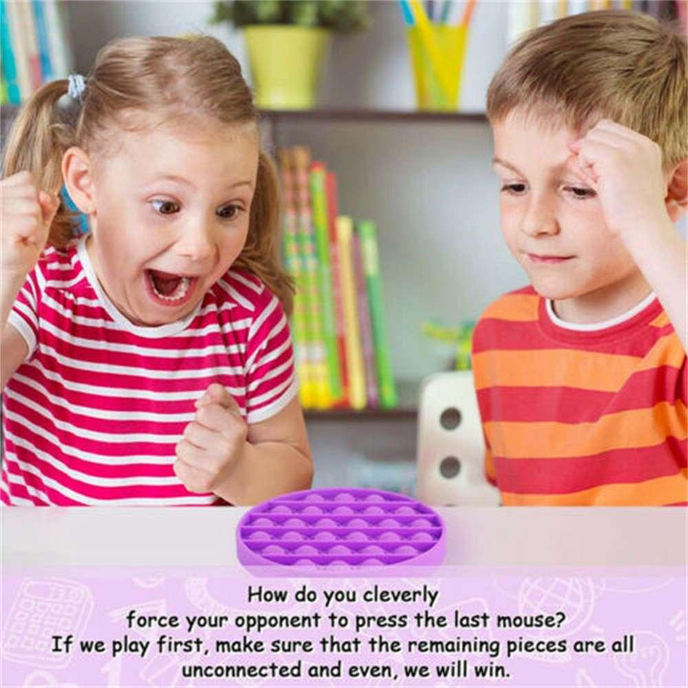 Pop Its Fidget Toy Push Bubble Sensory Stress Relief Kids Tiktok Family Games (8)