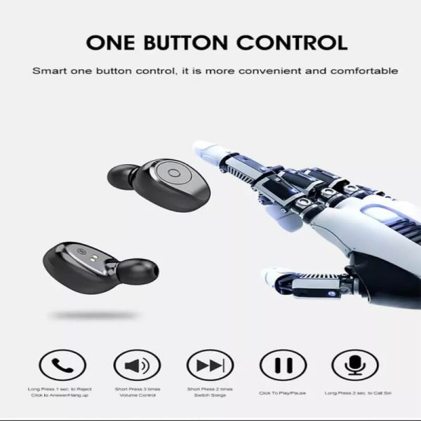 Portable Bluetooth Earphone High Quality Mini Sport Stereo Magnetic Touch 5.0 Earbuds Earphone (2)