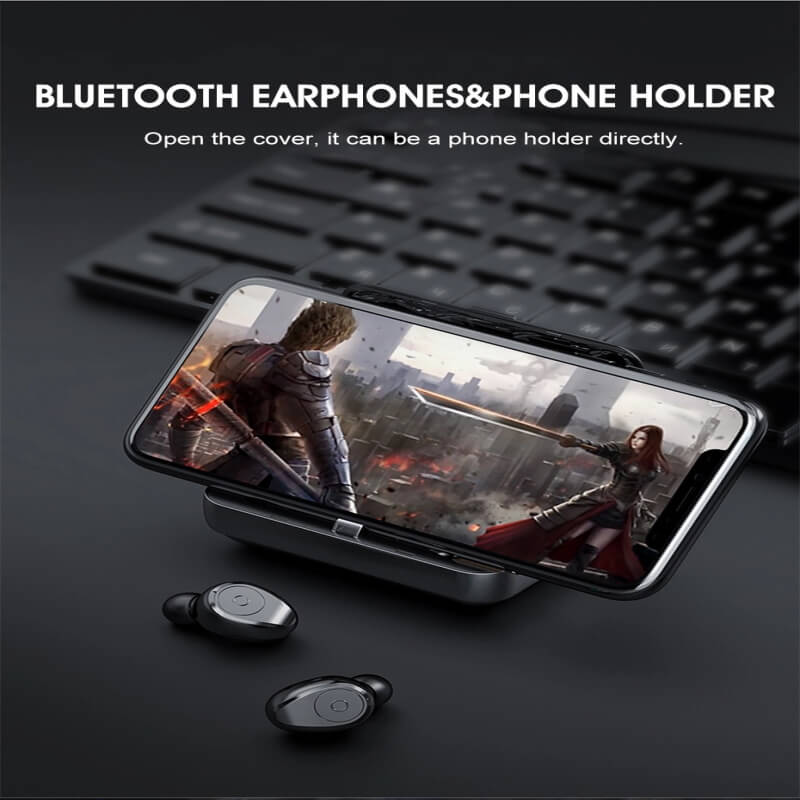 Portable Bluetooth Earphone High Quality Mini Sport Stereo Magnetic Touch 5.0 Earbuds Earphone (5)