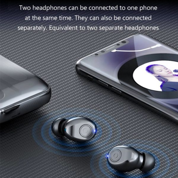 Portable Bluetooth Earphone High Quality Mini Sport Stereo Magnetic Touch 5.0 Earbuds Earphone (8)