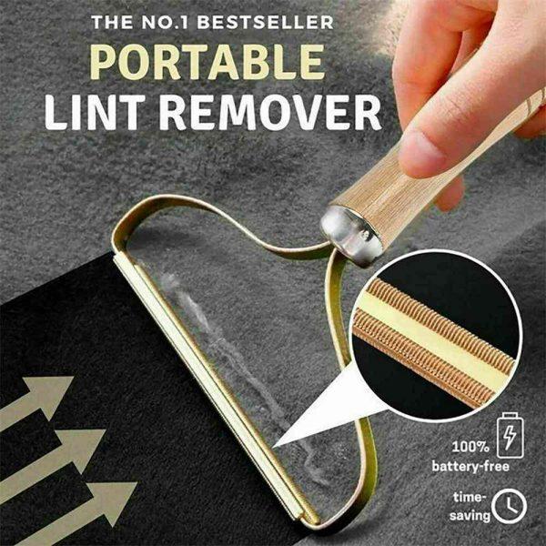 Portable Lint Remover Pet Fur Clothes Fuzz Shaver Jumper Trimmer Roller Reusable (2)