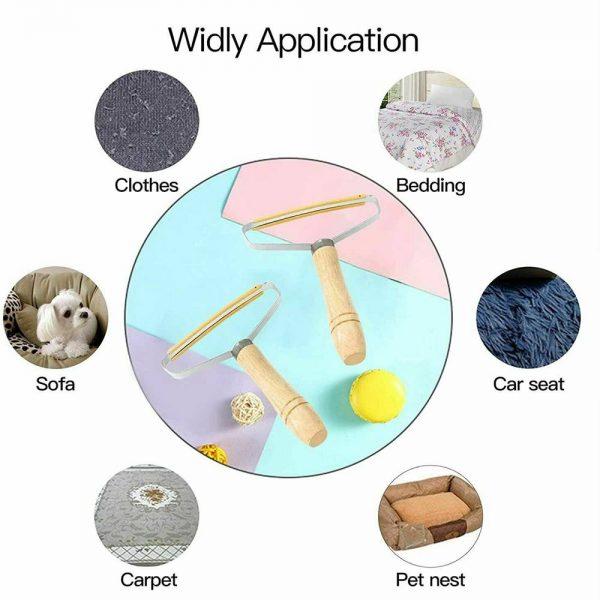 Portable Lint Remover Pet Fur Clothes Fuzz Shaver Jumper Trimmer Roller Reusable (20)