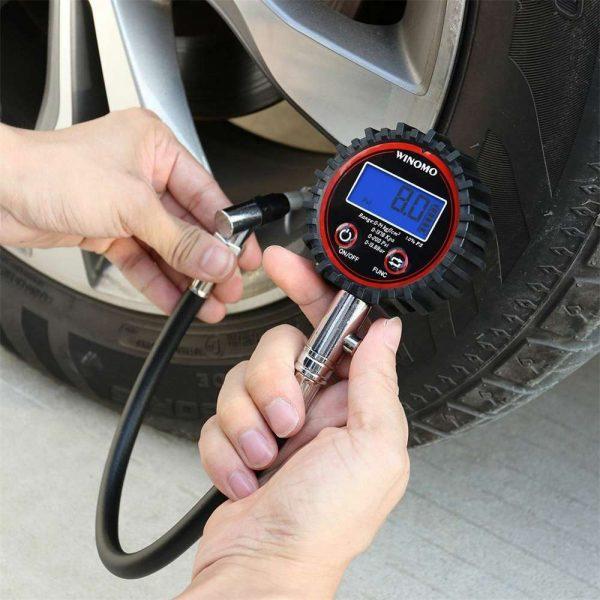Professional Digital Lcd Tyre Tire Air Pump Pressure Gauge Tester 200psi Car Van (12)
