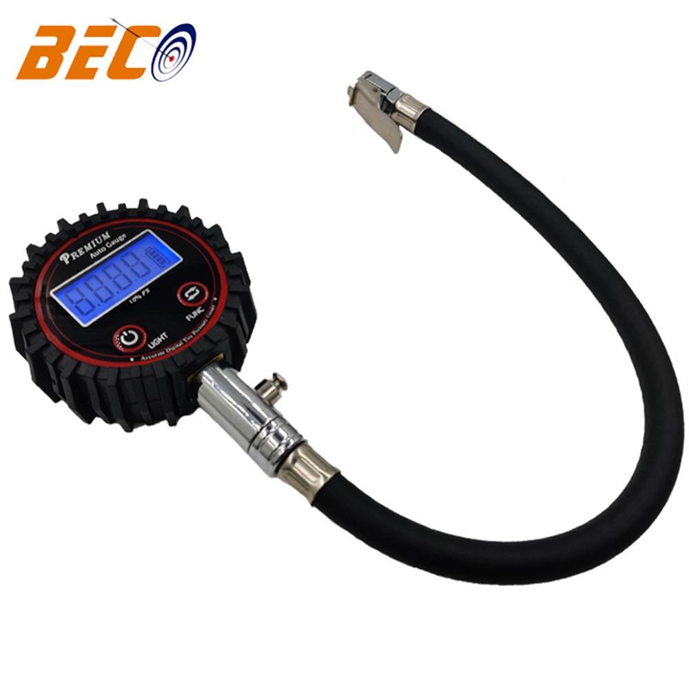 Professional Digital Lcd Tyre Tire Air Pump Pressure Gauge Tester 200psi Car Van (7)