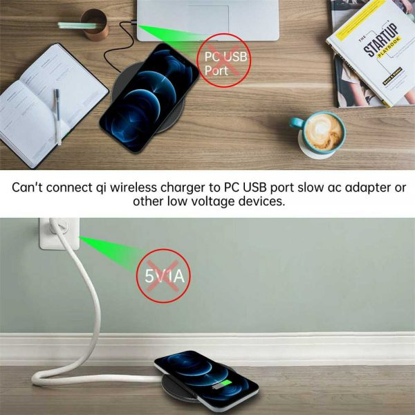 Qi Wireless Fast Charger Charging Pad Dock For Samsung Iphone Android Cell Phone (13)