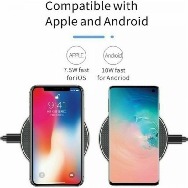 Qi Wireless Fast Charger Charging Pad Dock For Samsung Iphone Android Cell Phone (7)