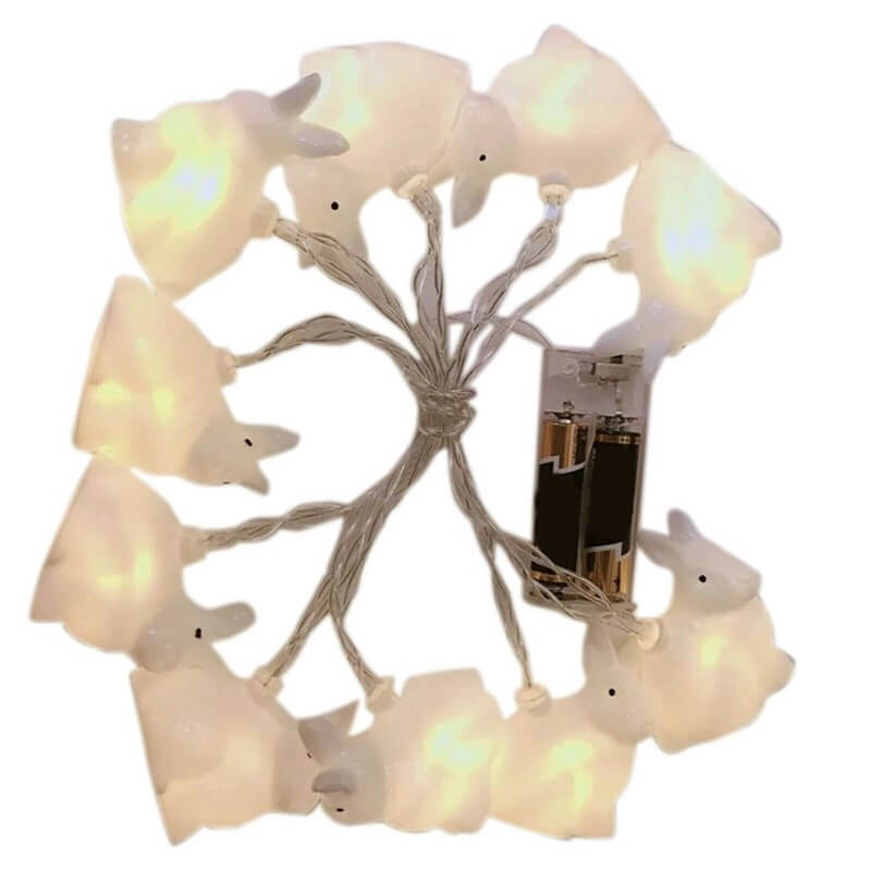 Rabbit Led String Lights Battery Operated Easter Bunny Shaped Light For Christmas Hallowee (10)
