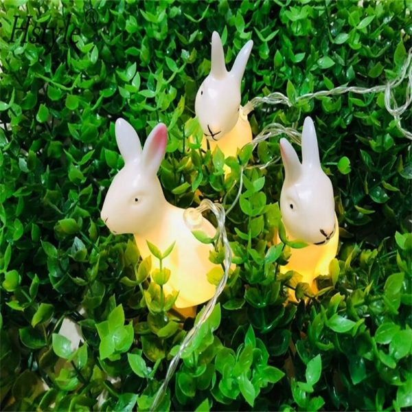 Rabbit Led String Lights Battery Operated Easter Bunny Shaped Light For Christmas Hallowee (8)
