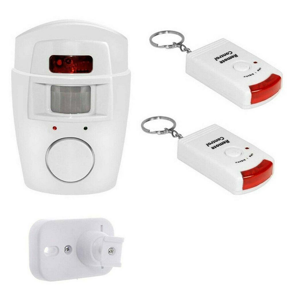 Sensor Motion Pir Wireless Alarm With 2 Remote Controls Shed Garage Home Caravan (1)