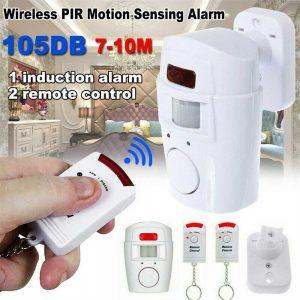 Sensor Motion Pir Wireless Alarm With 2 Remote Controls Shed Garage Home Caravan (10)