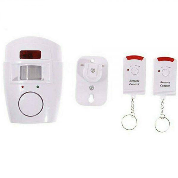 Sensor Motion Pir Wireless Alarm With 2 Remote Controls Shed Garage Home Caravan (2)