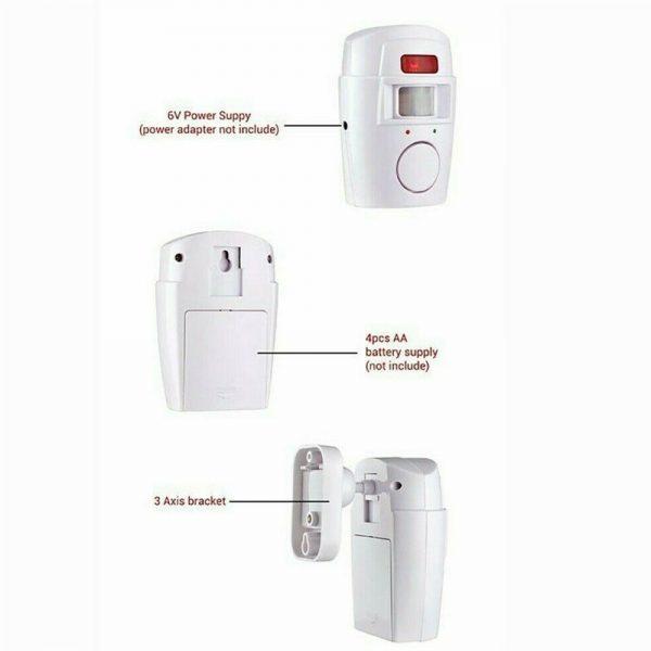Sensor Motion Pir Wireless Alarm With 2 Remote Controls Shed Garage Home Caravan (5)
