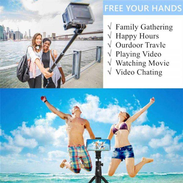 Selfie Stick 40 Inch Extendable Selfie Stick Tripod Phone Tripod With Wireless (1)