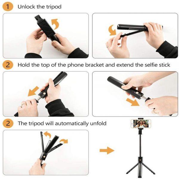 Selfie Stick 40 Inch Extendable Selfie Stick Tripod Phone Tripod With Wireless (16)