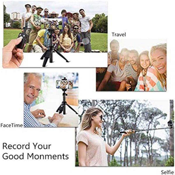 Selfie Stick 40 Inch Extendable Selfie Stick Tripod Phone Tripod With Wireless (2)