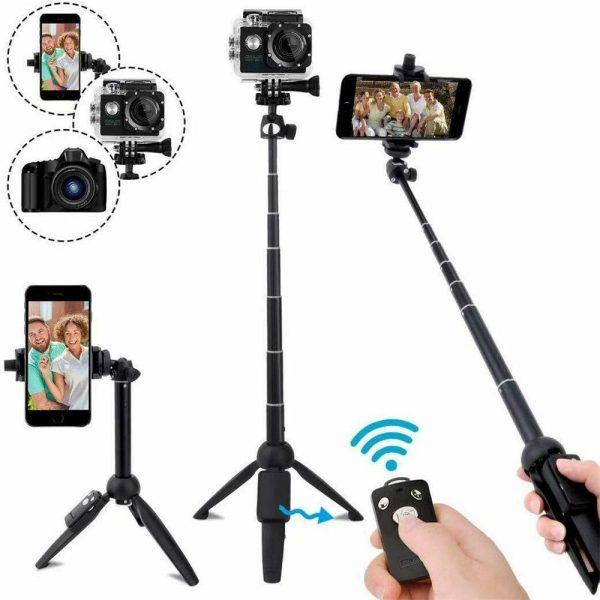 Selfie Stick 40 Inch Extendable Selfie Stick Tripod Phone Tripod With Wireless (9)