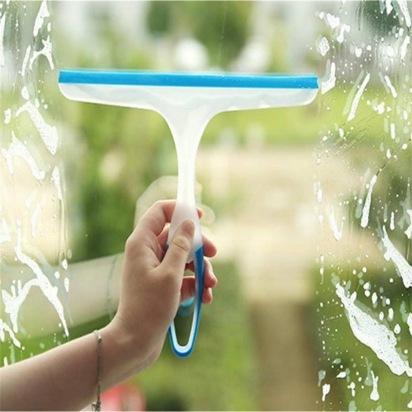 Shower Cleaner Window Squeegee Wiper Glass Clean Rubber Blade Screen Washer Tile (2)
