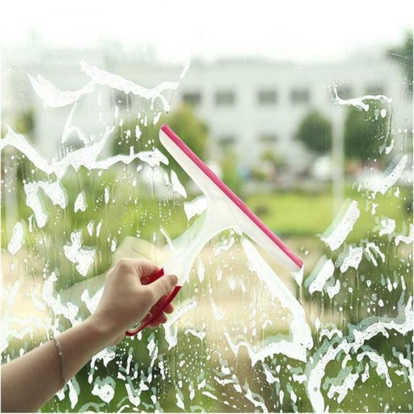 Shower Cleaner Window Squeegee Wiper Glass Clean Rubber Blade Screen Washer Tile (3)