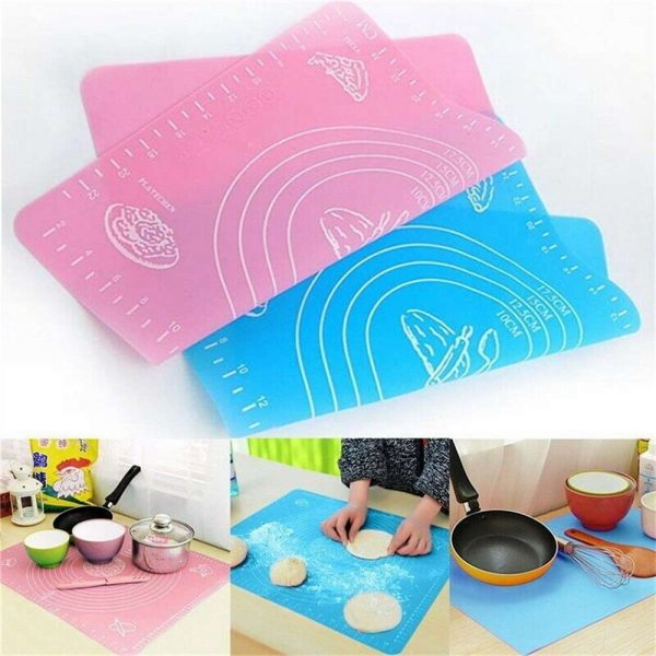 Silicone Cake Kneading Dough Non Stick Baking Mat Pastry Rolling Dough Pad (2)