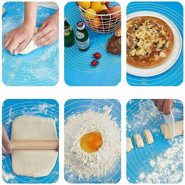 Silicone Cake Kneading Dough Non Stick Baking Mat Pastry Rolling Dough Pad (20)