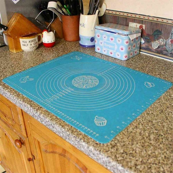 Silicone Cake Kneading Dough Non Stick Baking Mat Pastry Rolling Dough Pad (23)