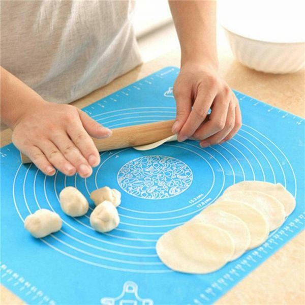 Silicone Cake Kneading Dough Non Stick Baking Mat Pastry Rolling Dough Pad (25)