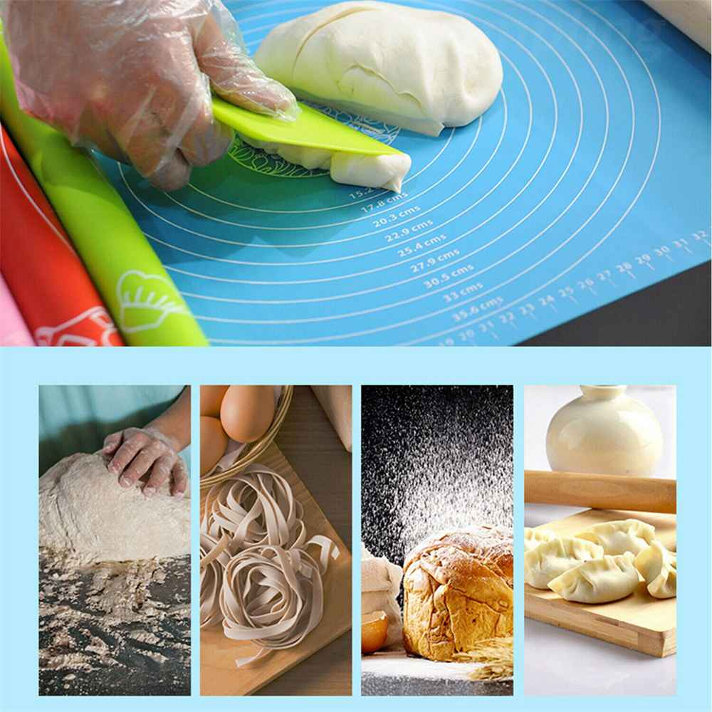 Silicone Cake Kneading Dough Non Stick Baking Mat Pastry Rolling Dough Pad (28)