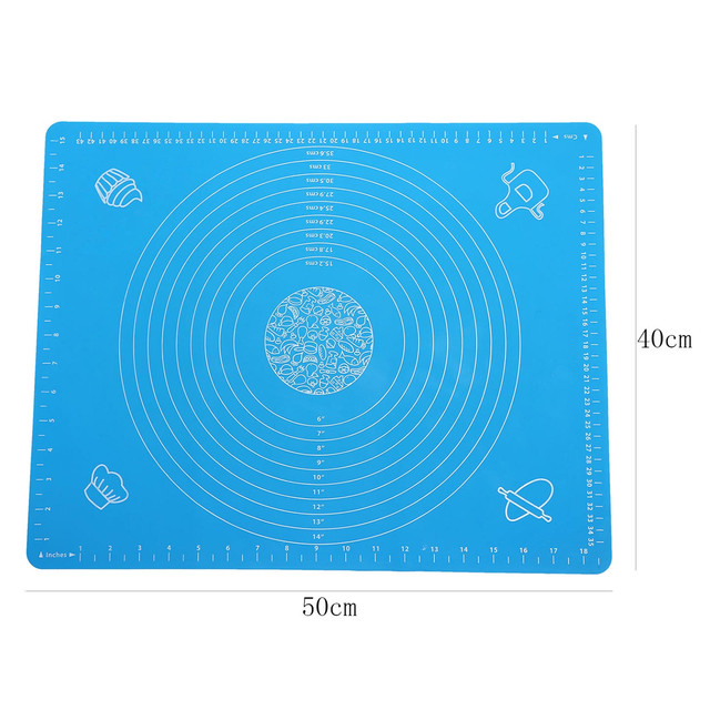 Silicone Cake Kneading Dough Non Stick Baking Mat Pastry Rolling Dough Pad (31)
